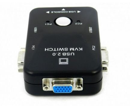 Switch KVM 2 Portas + USB Manual