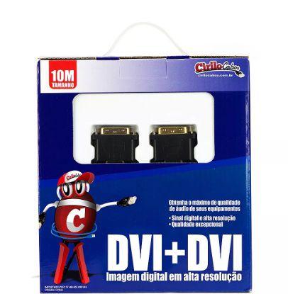 Cabo DVI-D para DVI-D de 10 metros - cirilo cabos