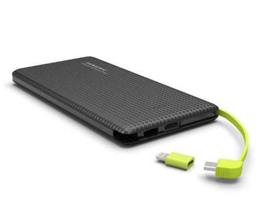 Power Bank Pineng 5000mah Slim | Carregador Portátil Pn952 | Preto