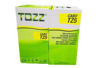 Cabo de Rede Cat5 Tozz TZ5  cx 305mts - Azul