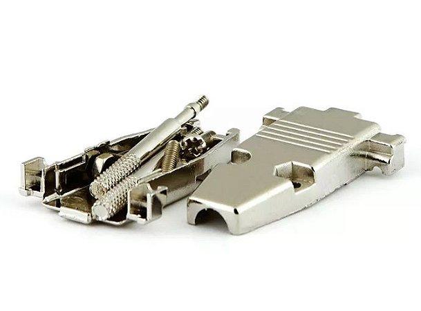 Capa Conector VGA 15 Pinos Metal Niquelado kit Longo