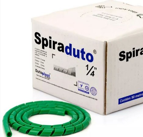 Spiraduto 1/4 Organizador de Cabos - DUTOPLAST - Verde