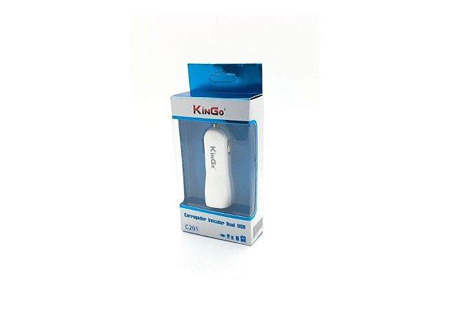 Carregador Veicular Dual USB - Kingo