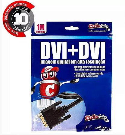 Cabo DVI-D para DVI-D Dual Link de 1 metro da Cirilo Cabos