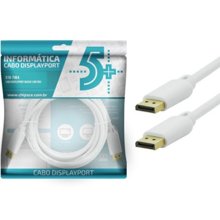 Cabo 5+ Displayport Macho 3m - ChipSCe