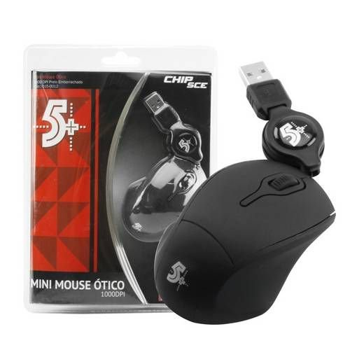 Mini Mouse Otico 1000 DBI-Preto emborrachado - ChipSce