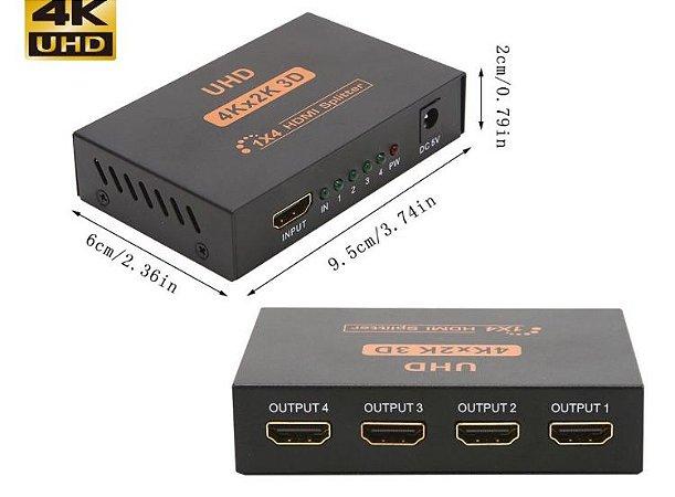 SPLITTER HDMI -4K - 1 ENTRADA 4 SAÍDAS