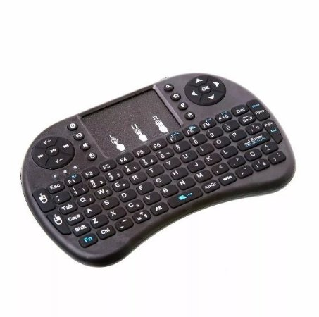 Mini Teclado Controle USB p/ Smart TV com mouse integrado