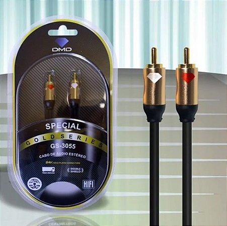 Cabo De Áudio Estéreo Rca-Série Ouro - Diamond Cable / 3 Metros