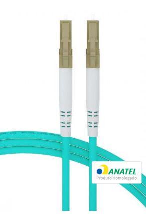 Cordão Óptico Duplex Multimodo Acqua OM4 10 Gigabit 50/125µ LC-UPC/LC-UPC - 3 Metros