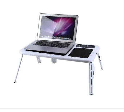 Mesa Para Notebook Dobrável Portátil Articulada Com Cooler