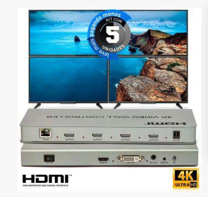 Kit 5  Video Wall Controller 2x2 4k