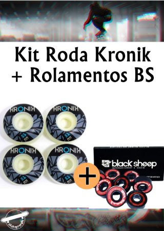 Kit Rolamento Black Sheep Importado e Rodas Kronik 2021