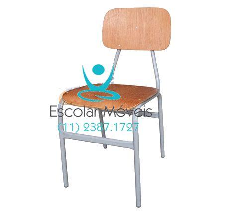 Cadeira Escolar Imbúia Adulto