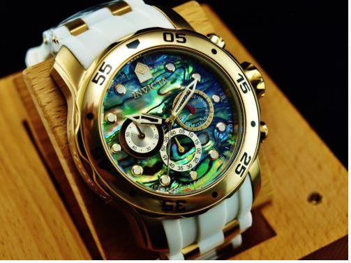 116f3c611fa Relógio Invicta Masculino Pro Diver mostrador Abalone Folheado A Ouro 18K  24840
