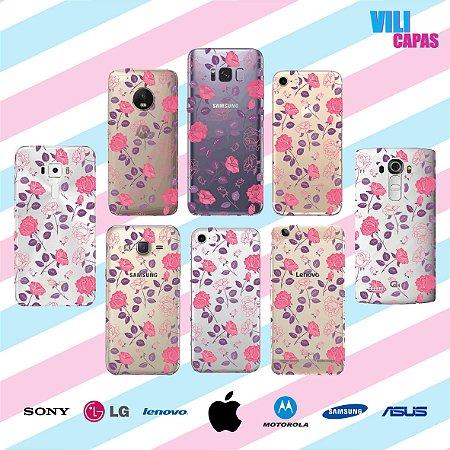 Capinha para celular - Rosas