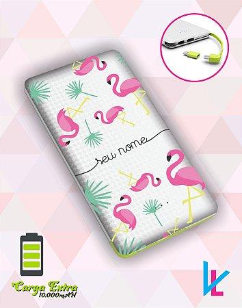 Carregador Portátil - Flamingos com nome