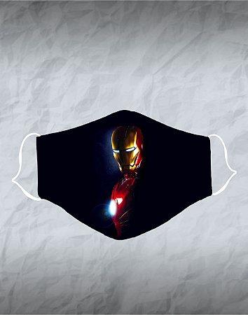 Máscara de Tecido Poliéster Personalizada Lavável Reutilizável - Homem de Ferro