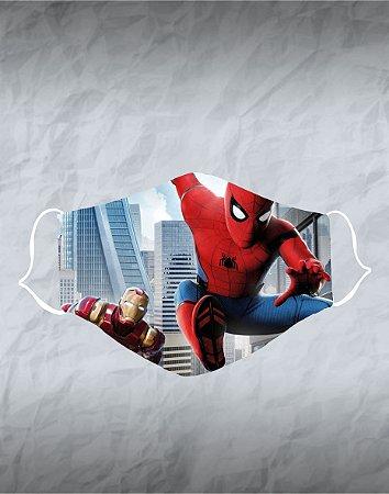 Máscara de Tecido Poliéster Personalizada Lavável Reutilizável - Homem Aranha 2