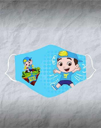 Máscara de Tecido Poliéster Personalizada Lavável Reutilizável - Lucas Neto