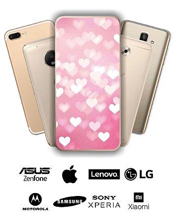 Capinha - Corações rosa