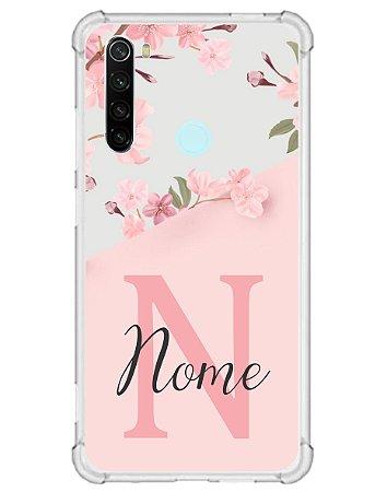 Capinha Personalizada para Xiaomi RedMi Note 8 Anti Impacto - Delicate Flowers