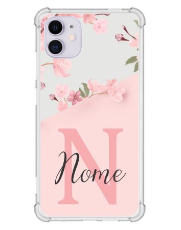 Capinha Personalizada para iPhone 11 Anti Impacto - Delicate Flowers