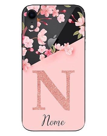Capinha Personalizada para iPhone XR Anti Impacto - Delicate Flowers Transparente