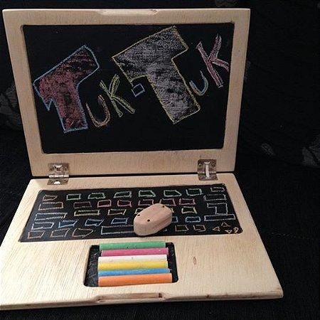 Notebook de madeira - Lousa GIZ