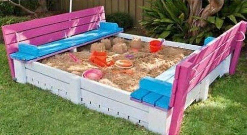 Caixa de Areia com assento
