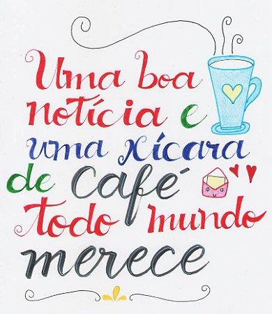 Lettering - Café e Boa Notícia