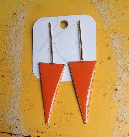 Maxi Brincos - Triângulo Invertido Laranja