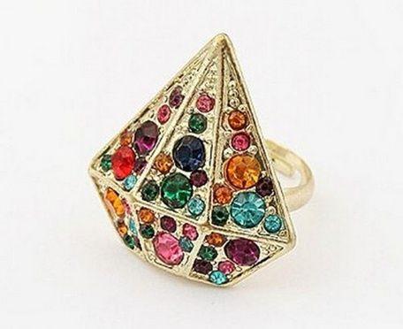 Anel Formato Diamante