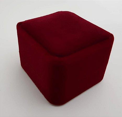 Porta Anel Quadrado de Veludo Red