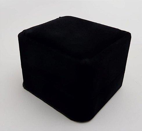 Porta Anel Quadrado de Veludo Black