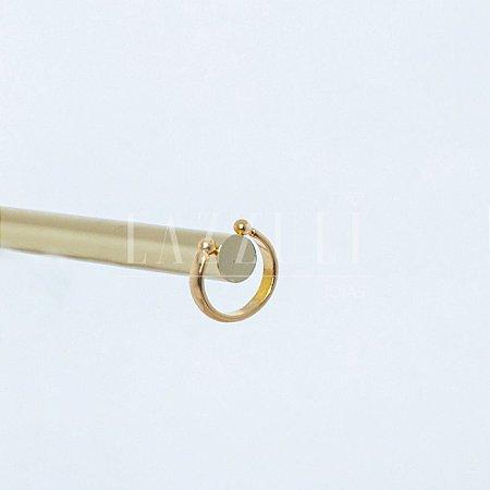 Piercing Fake Liso Banhado em Ouro18k
