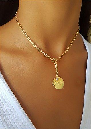 765af307f51 Colar Elo Cartier com Pingente Love Banhado em Ouro 18k - Lazzuli ...