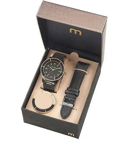 8c0f61934b6 Relógio Mondaine Troca Catraca e Pulseira Preto - Lazzuli Joias ...