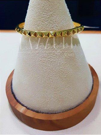 Bracelete Triângulo Réplica T. Banhado em Ouro18k
