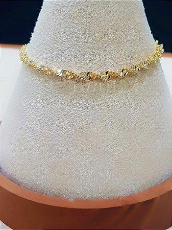 Pulseira Corda Banhado em Ouro18k