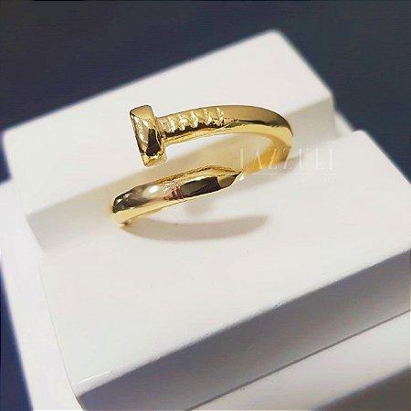 Anel C. Liso Banhado em Ouro18k
