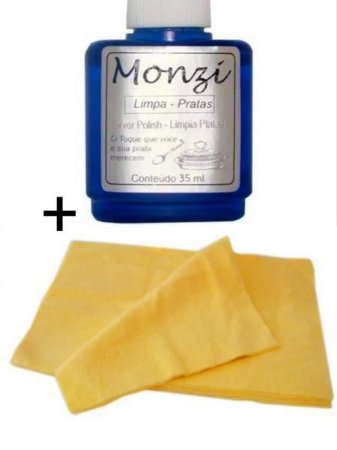 kit Monzi 35ml Prata + flanela mágica