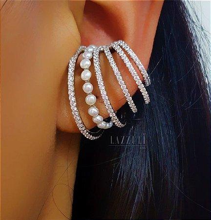Brinco Ear Hook Encaixe ( unidade) em Prata 925