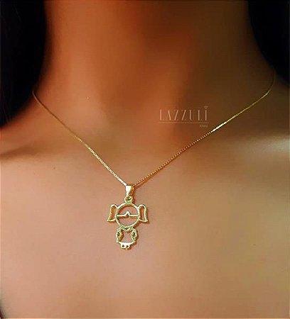 Colar Filha Lisa 2 cm Banhado em Ouro18k (SKU: 00051471)