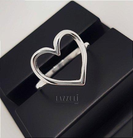 Anel Coração Liso em Prata 925 (SKU: 00132060)