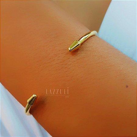 Bracelete Aberto Seta Liso Banhado em Ouro18k