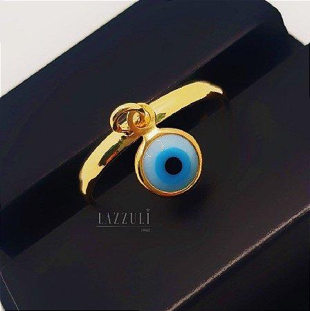 Anel Olho Grego Banhado em Ouro18k (SKU: 00010713)