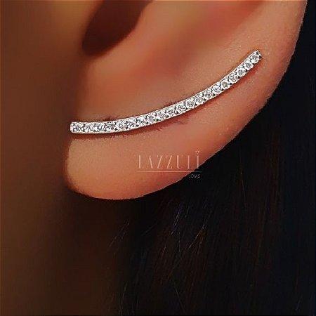 Brinco Ear Cuff com Micro Zircônia em Prata
