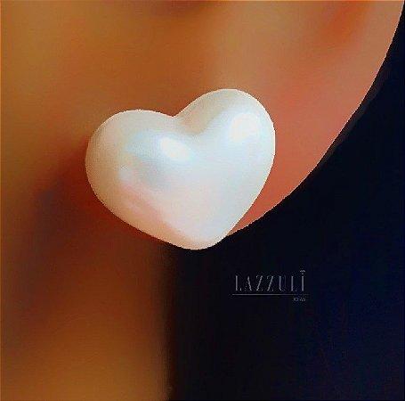 Brinco Coração Pérola Banhado em Ouro18k (SKU: 00032054)