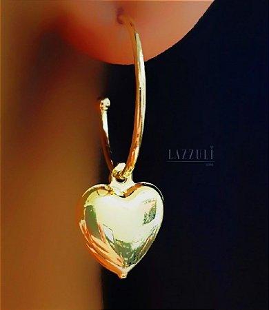 Brinco Argola Coração 1.8 cm Banhado em Ouro18k (SKU: 00032050)